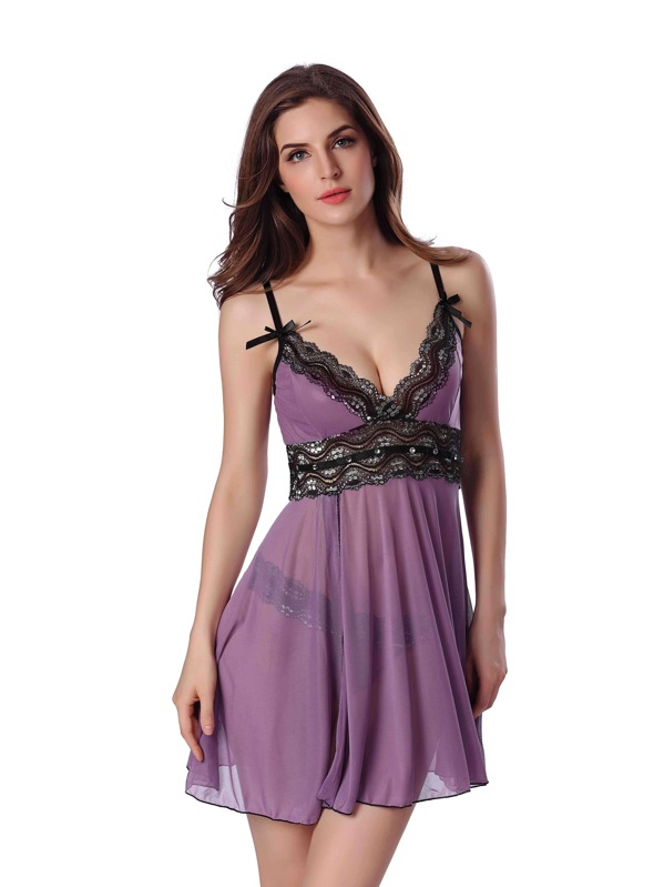 Прозрачное платье и трусики — photo 4