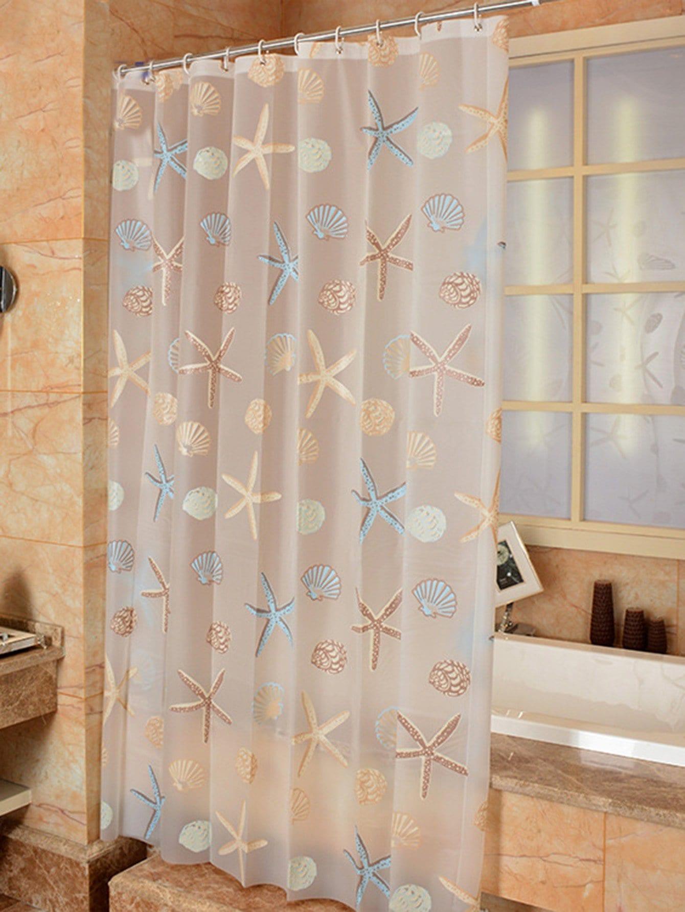 rideau de douche imprim toile de mer 1 pi ce crochet 12 pi ces french romwe. Black Bedroom Furniture Sets. Home Design Ideas