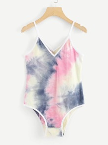 Water Color Ringer Bodysuit