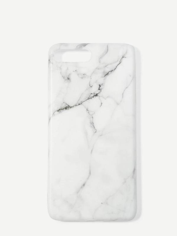0e7572e477 Marble Print iPhone Case | SHEIN IN