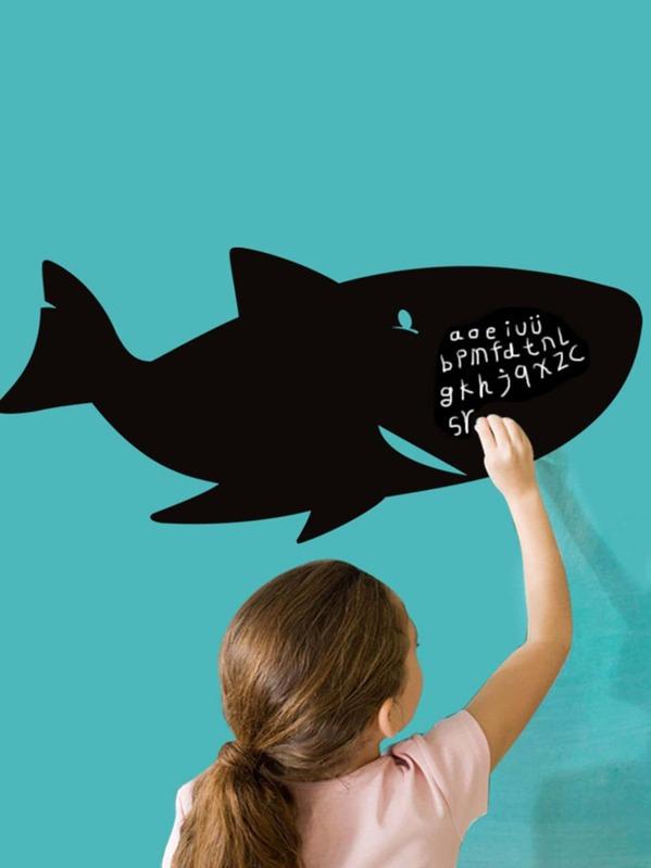 Sticker di cartone animato squalo lavagna shein
