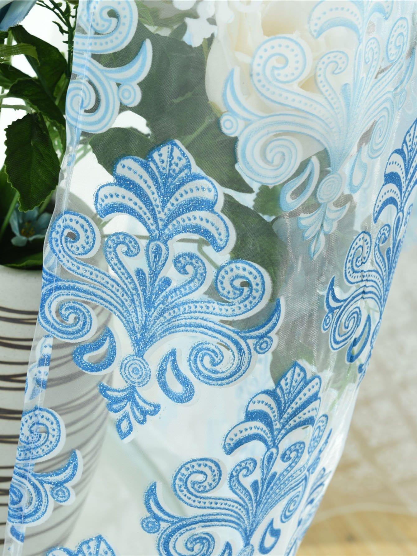 Vorhang 1pc mit Blumenmuster und Tülle - German romwe