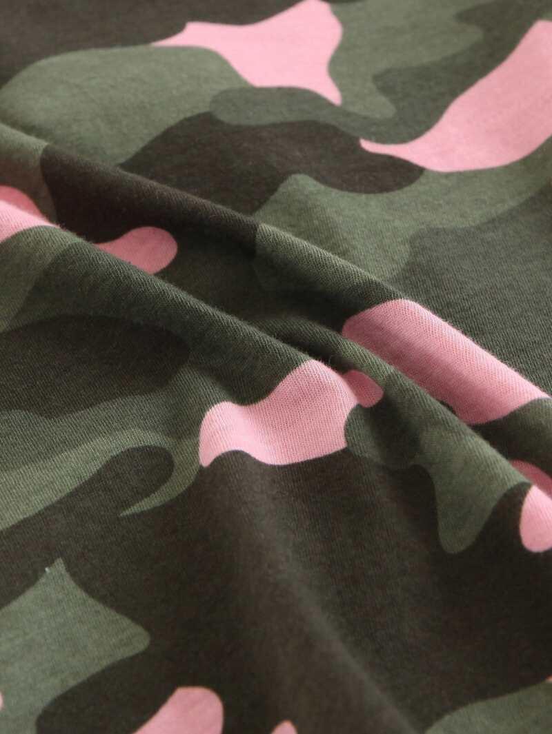 Tee Fille Fille Imprimé Shirt Shirt Tee Imprimé Camouflage Fille Camouflage PiuOkZwXT