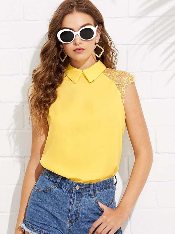 831f922f2036c Cheap Floral Lace Cap Sleeve Blouse for sale Australia