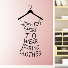 Slogan Dress Wall Decal wallart180511876