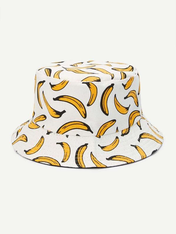 299b50a520ddd Banana Pattern Bucket Hat