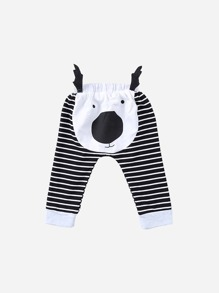 Toddler Boys Striped Cartoon Pants
