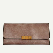 Metal Detail Clutch Wallet