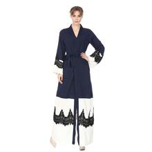 Color Block Lace Contrast Abaya