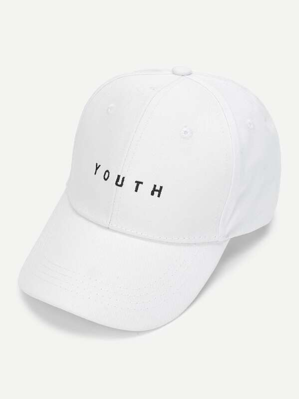 8aa63b4626 Embroidered Letter Baseball Cap   SHEIN