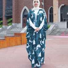 Palm Print Abaya