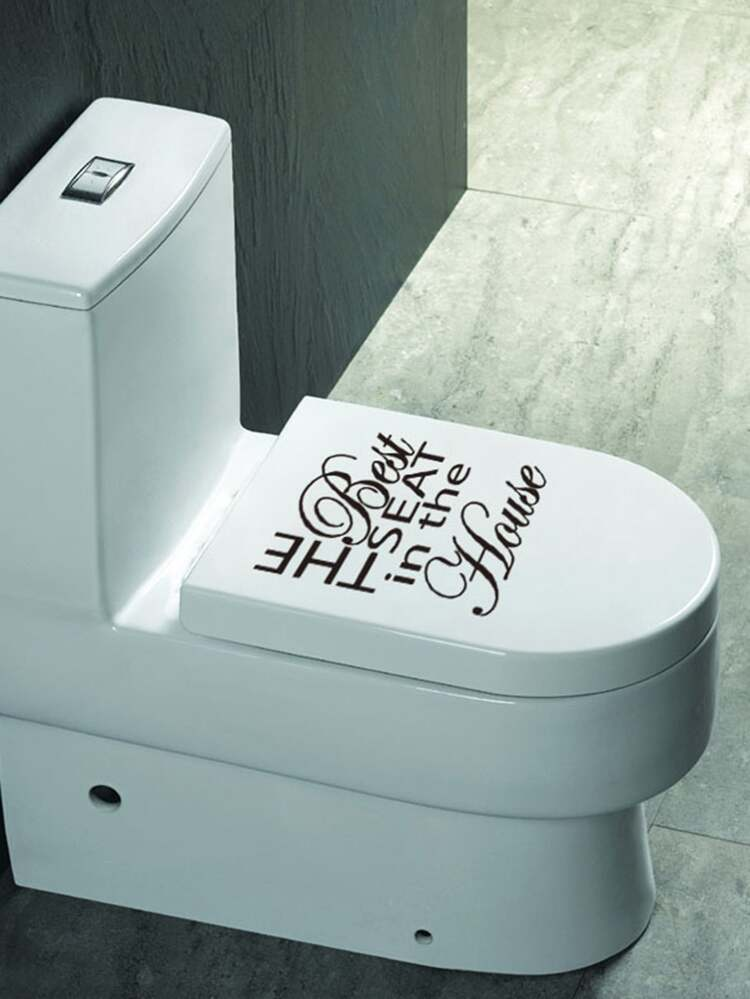 Slogan Toilet Lid Sticker