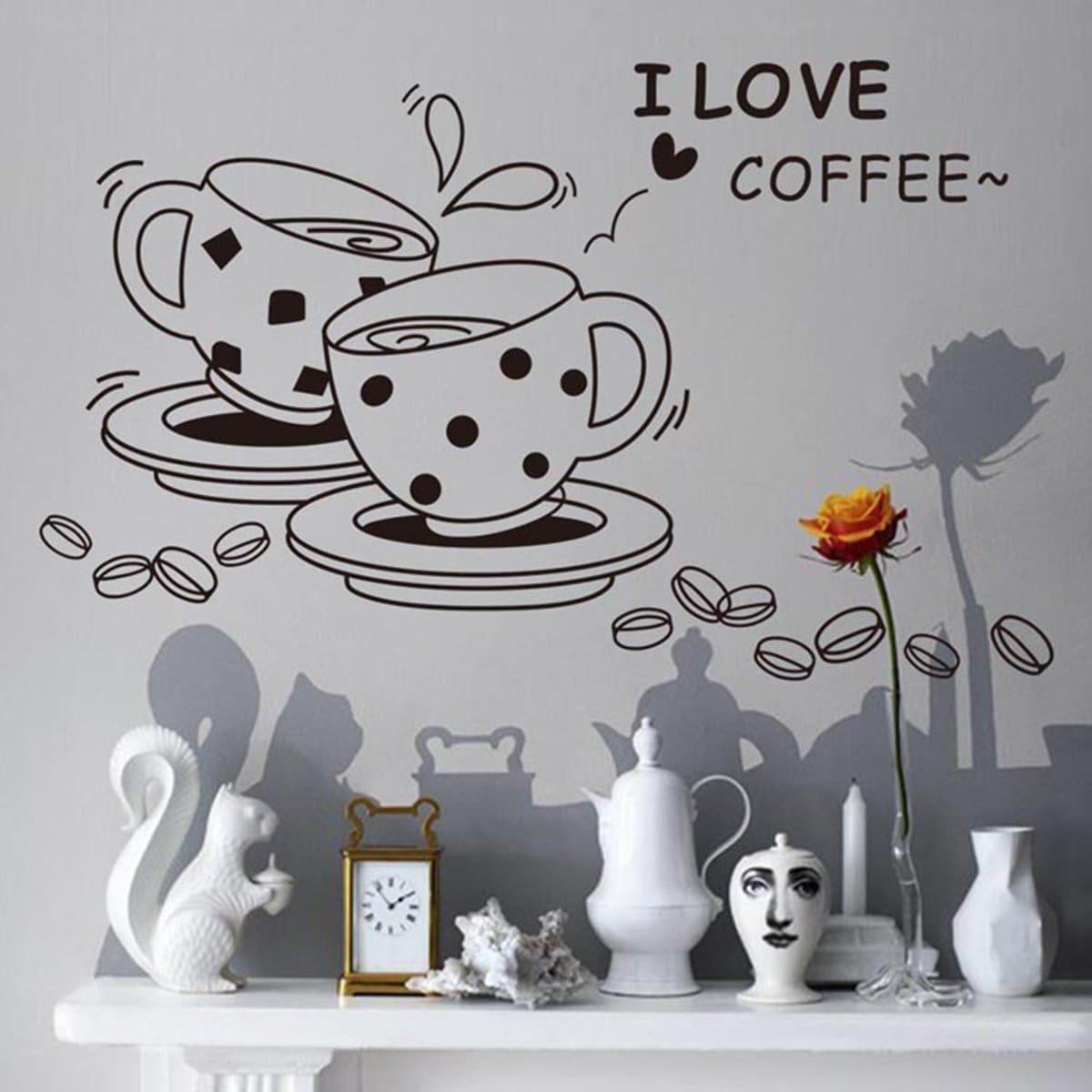 Kaffee Wandaufkleber