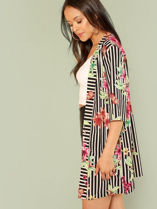 10e3dffcf78b Kimono a righe e fiori