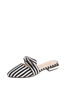 Bow Tie Striped Mules