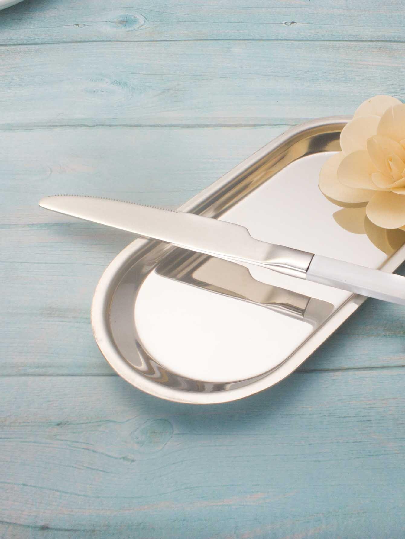 Cuchillo de mesa de acero inoxidable -Spanish Romwe