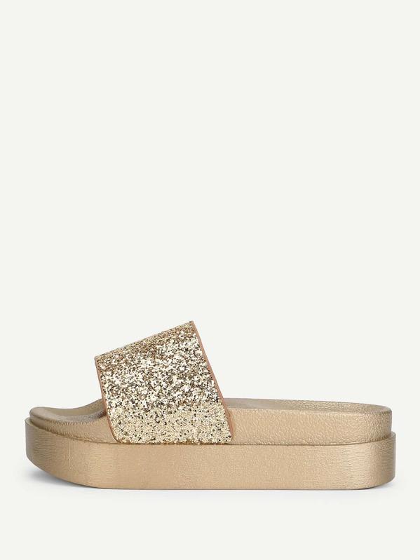 e5646e5e415 Glitter Design Flatform Sandals