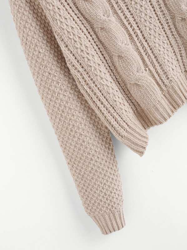 2ed84fbe96a9 Cheap Cable Knit Chenille Sweater for sale Australia | SHEIN