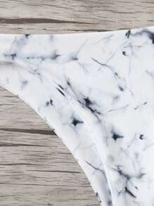 a143ce8499 Marble Knot Front Bikini Set | SHEIN