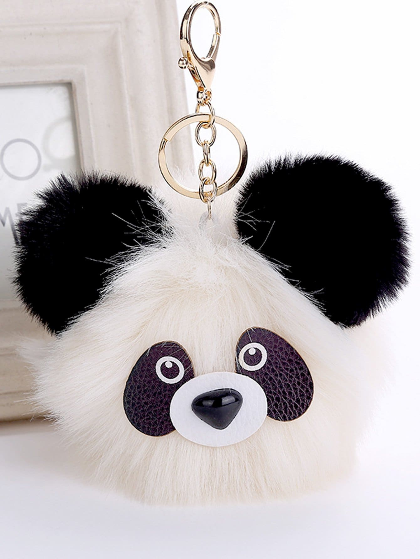 porte cl design de panda avec pompon french romwe. Black Bedroom Furniture Sets. Home Design Ideas