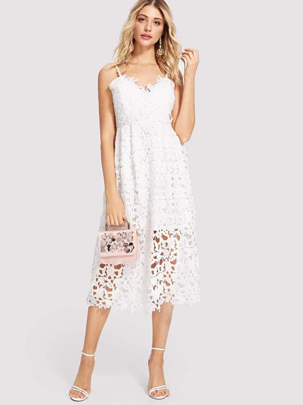 fcc3080cfb86 Lace Hollow Out Cami Dress