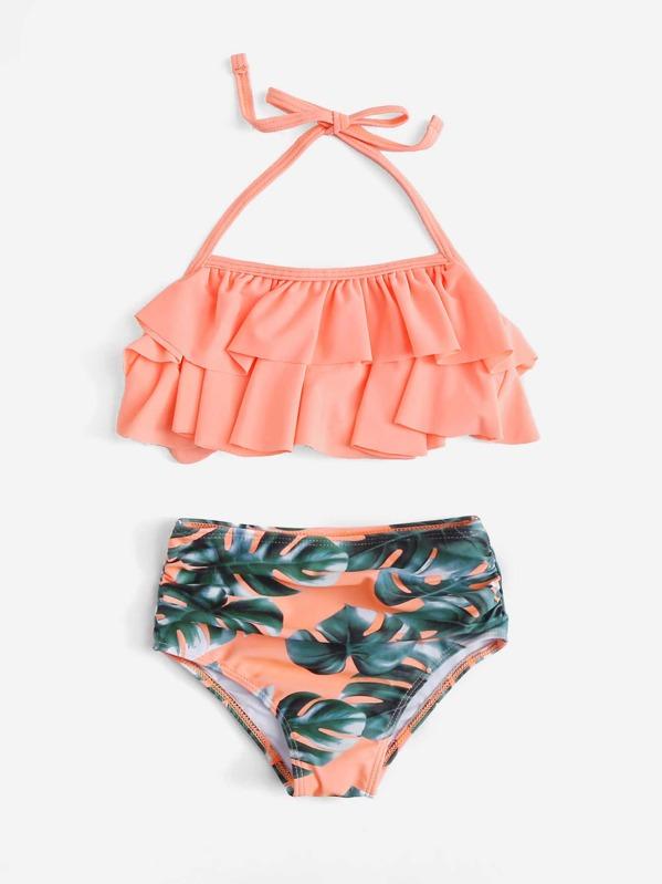 3cb6dd6fb8 Cheap Toddler Girls Palm Print Ruffle Bikini Set for sale Australia | SHEIN