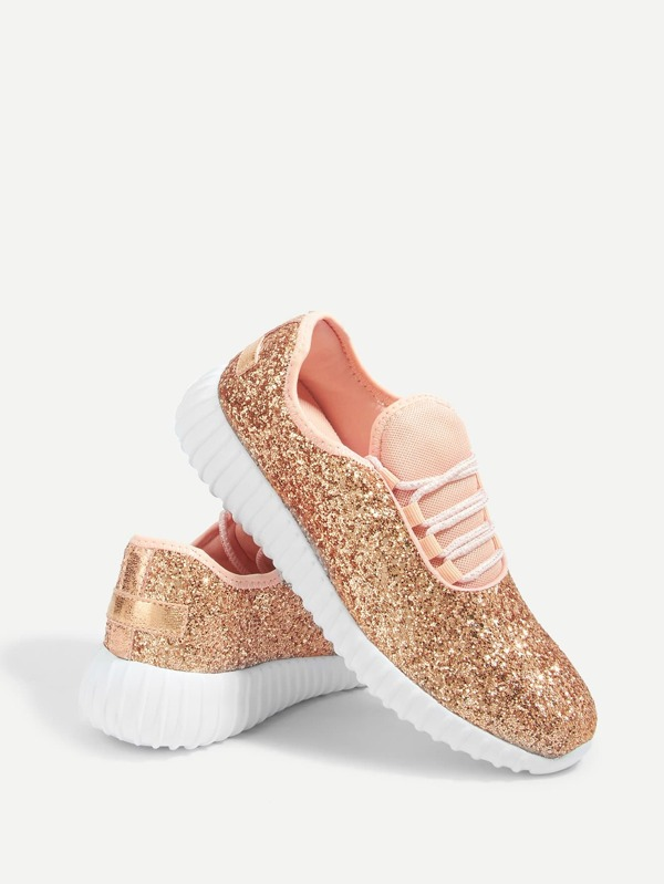 Awesome peach Sequin trainers
