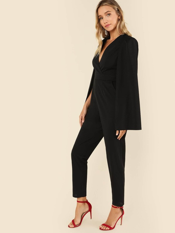 6fc42989101 Cheap Plunging Neck Cloak Sleeve Solid Jumpsuit for sale Australia ...
