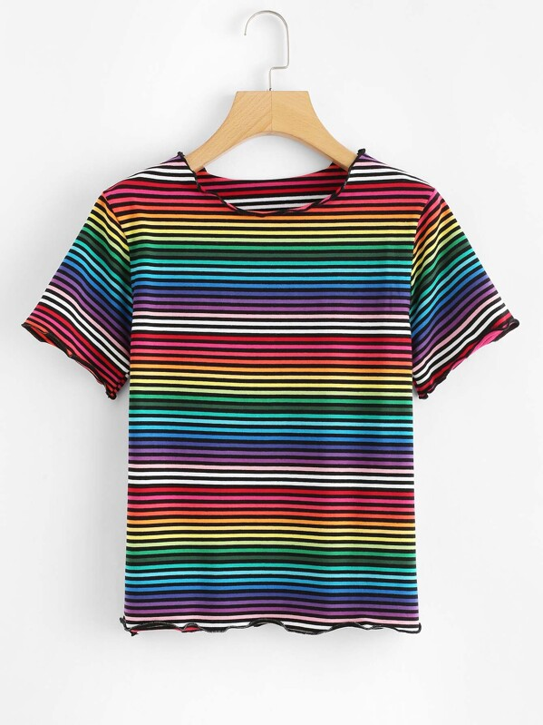 bb3419fb7ca Cheap Rainbow Striped Short Sleeve T-shirt for sale Australia
