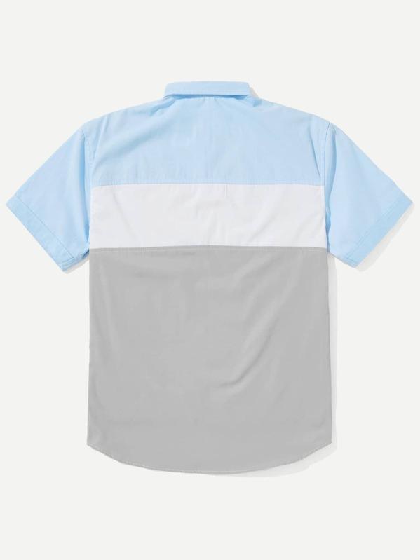 91f9c402c8 Men Cut And Sew Panel Shirt | SHEIN