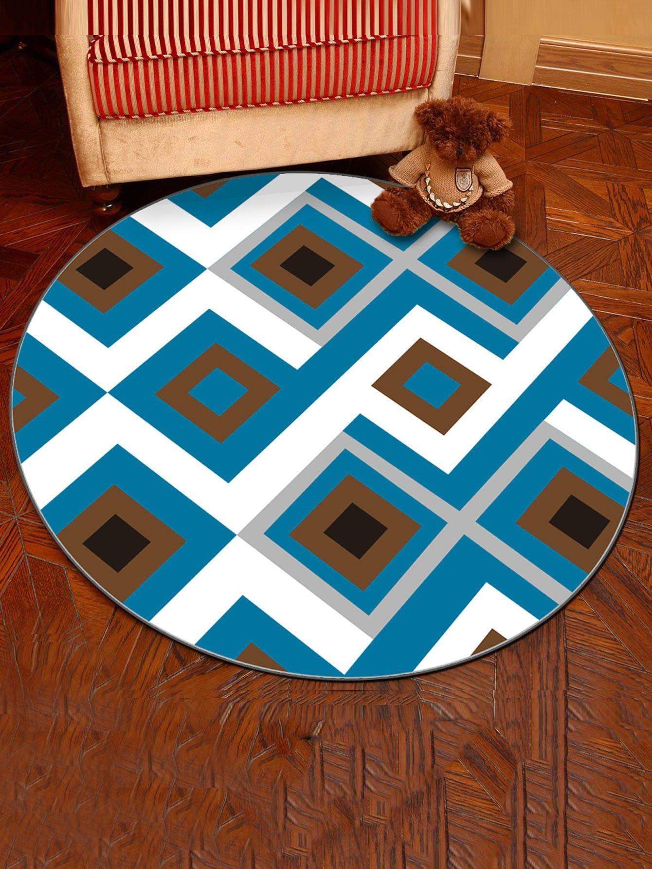 tapis rond imprim motif g om trique romwe. Black Bedroom Furniture Sets. Home Design Ideas
