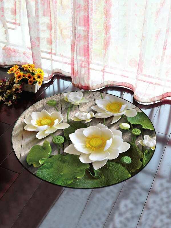 Cheap 3d Lotus Flower Round Mat For Sale Australia Shein