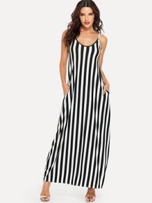 Block-Stripe Cami Dress
