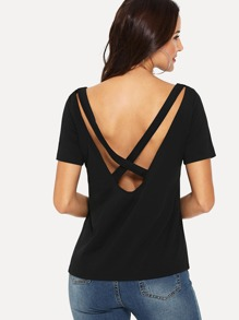 Criss Cross Open Back Tee