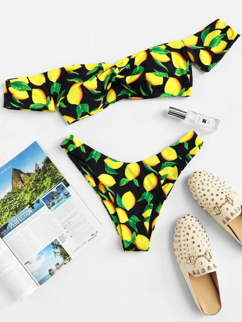 0f1796331b44 Set de bikini con estampado de fruta