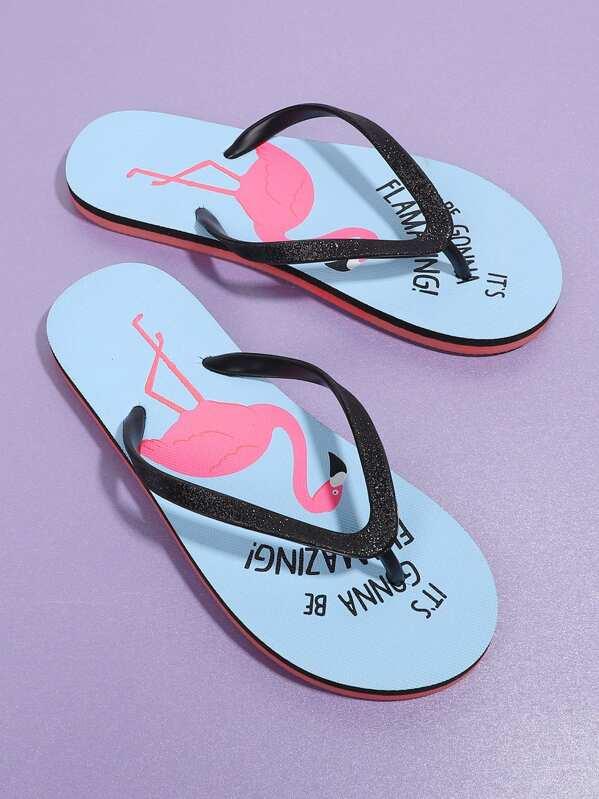 29a889e07 Cheap Flamingo Print Flip Flops for sale Australia