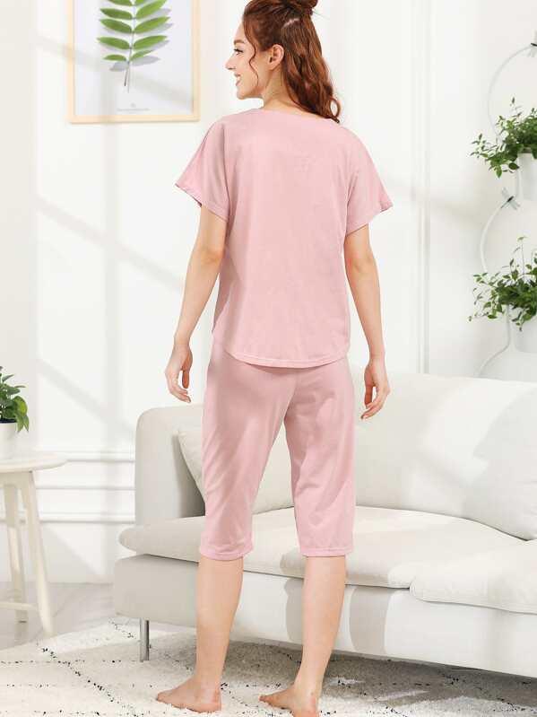 32010489af Conjunto de pijama con estampado de gato