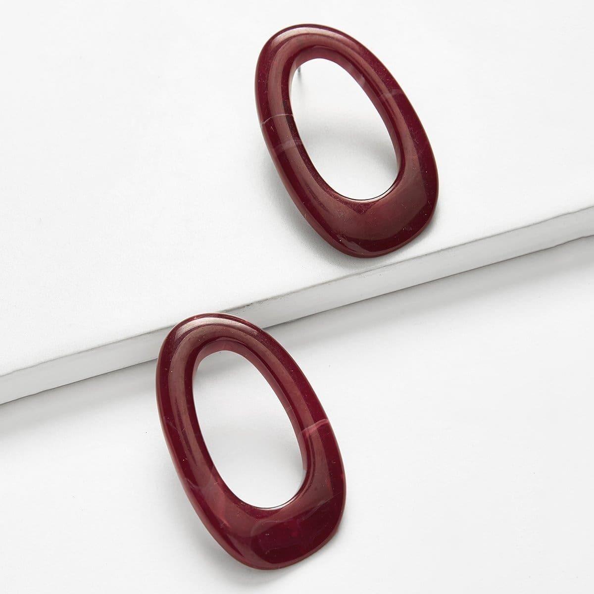 - Hoop Design Stud Earrings