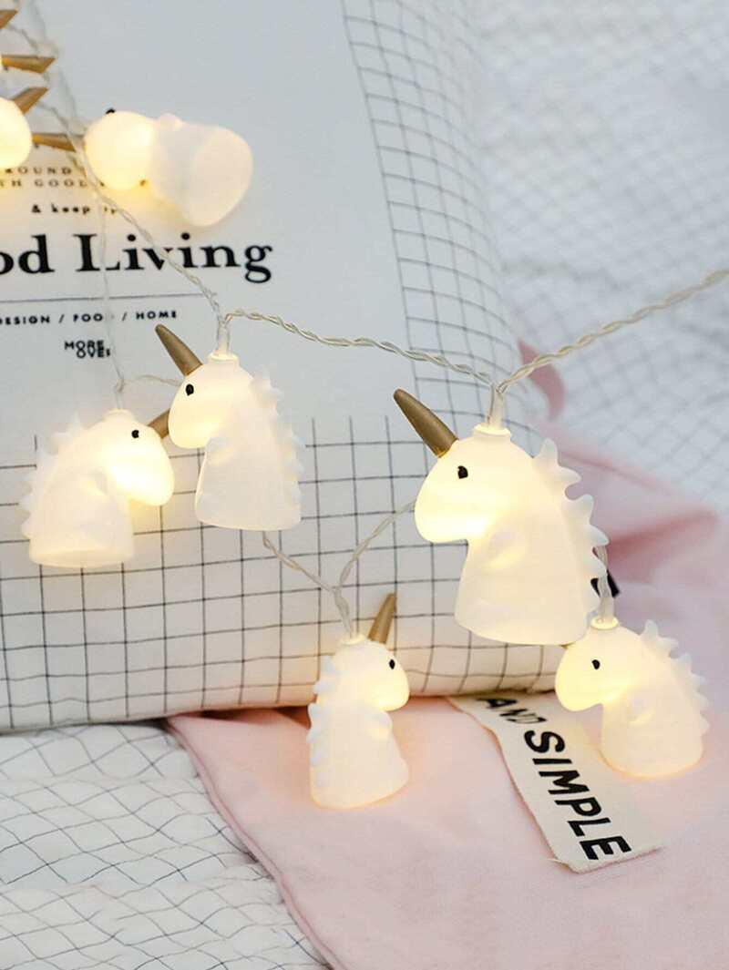 Pièces Ampoules De Chaîne Licorne Forme Avec Lumière 20 En 0nOPk8w