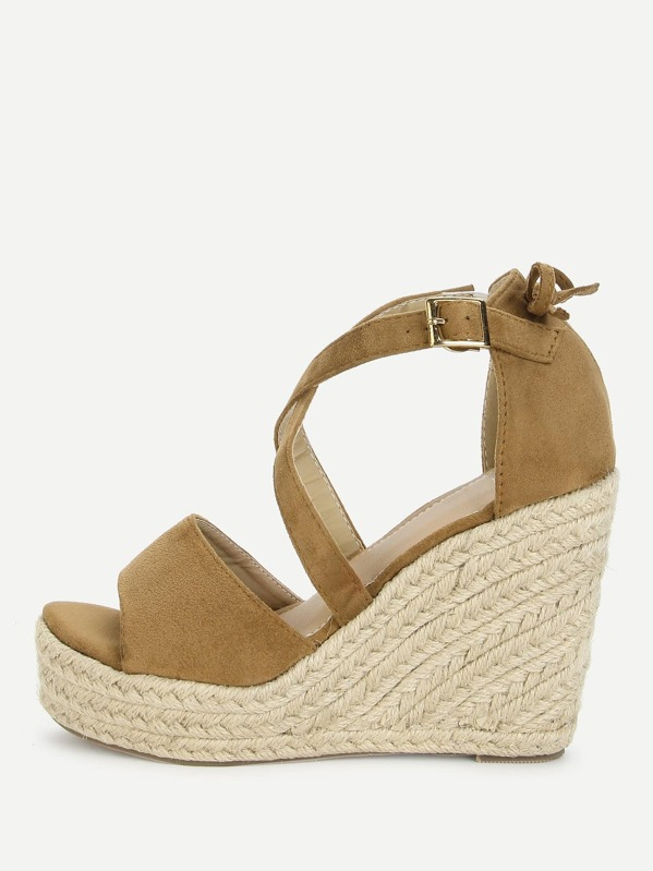 Sandals Bow Detail Platform Wedge Bow Platform Bow Detail Detail Wedge Sandals xedCWBro