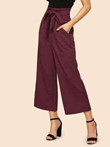 Self Tie High Waist Pants