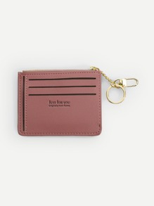 Zipper Trim Card Wallet