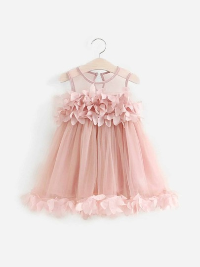 dcdf15d95a6e Toddler Girls Stereo Flower Tutu Dress