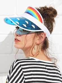 Clouds Pattern Visor Hat