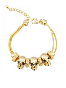 Skeleton Design Layered Bracelet