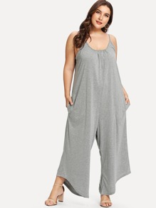 Plus Heather Knit Jersey Jumpsuit