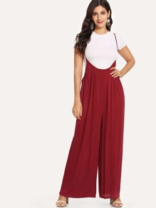 Solid Wide Leg Cami Jumpsuit