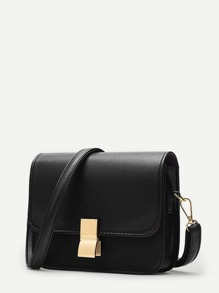 Metal Lock Crossbody Bag