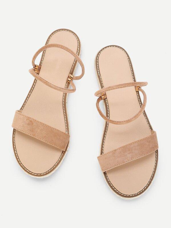 8067c83eee Cheap Peep Toe Espadrille Flat Sandals for sale Australia | SHEIN
