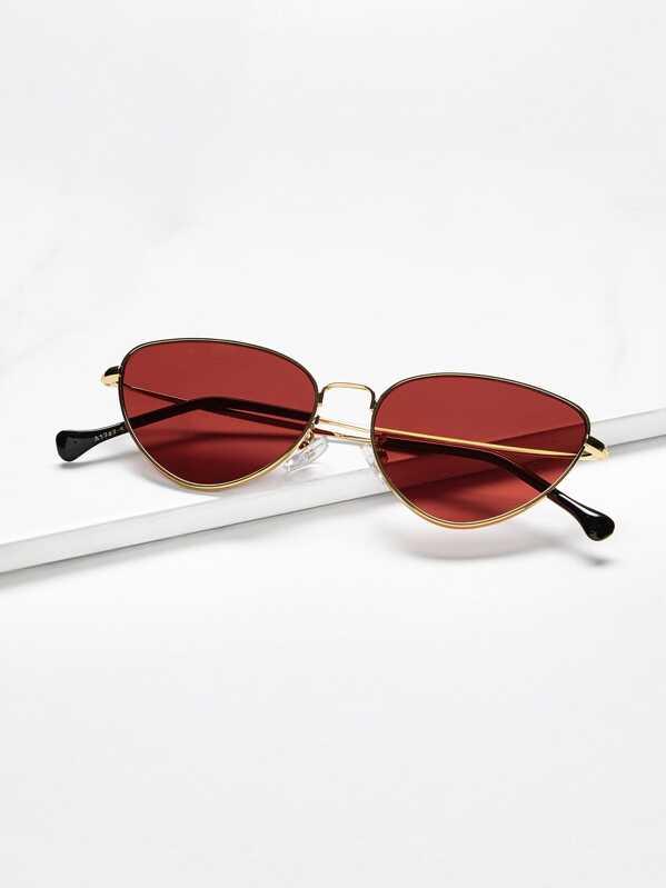 9801c0dbc5 Oval Shaped Flat Lens Sunglasses